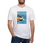 Ocean Beach Sunset Cliffs Fitted T-Shirt