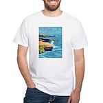 Ocean Beach Sunset Cliffs White T-Shirt