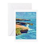 Ocean Beach Sunset Cliffs Greeting Cards (Pk of 20