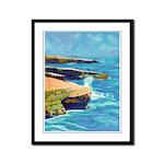 Ocean Beach Sunset Cliffs Framed Panel Print