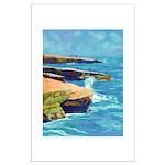 Ocean Beach Sunset Cliffs Large Poster