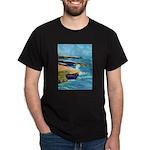 Ocean Beach Sunset Cliffs Dark T-Shirt