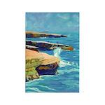 Ocean Beach Sunset Cliffs Rectangle Magnet (10 pac