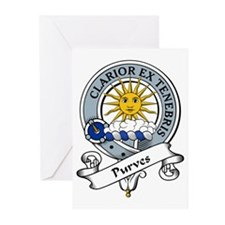 Purves Clan Badge Greeting Cards (Pk of 10)