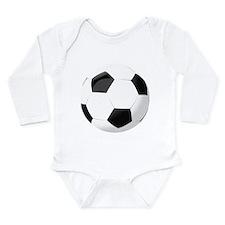 Soccer Ball Long Sleeve Infant Bodysuit
