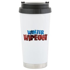 Winter Wipeout Ceramic Travel Mug