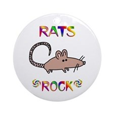 Rat Ornament (Round)