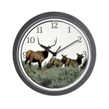 Trophy elk Wall Clock