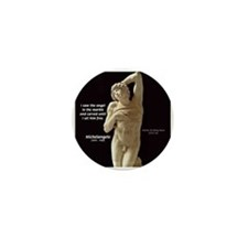 Michelangelo Angel in Sculpture Mini Button (100 p