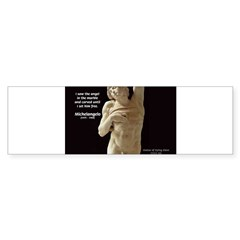 Michelangelo Angel in Sculpture Bumper Sticker