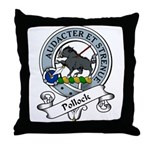 Pollock Clan Badge Throw Pillow