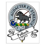Pollock Clan Badge Small Poster