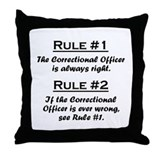 Correctional Officer Throw Pillow