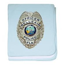 Belleair Florida Police baby blanket