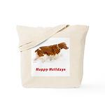 Brittany Spaniel Holiday Christmas Tote Bag
