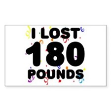 I Lost 180 Pounds! Decal