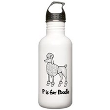 P is for Poodle Water Bottle