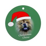 Christmas chow Ornament (Round)