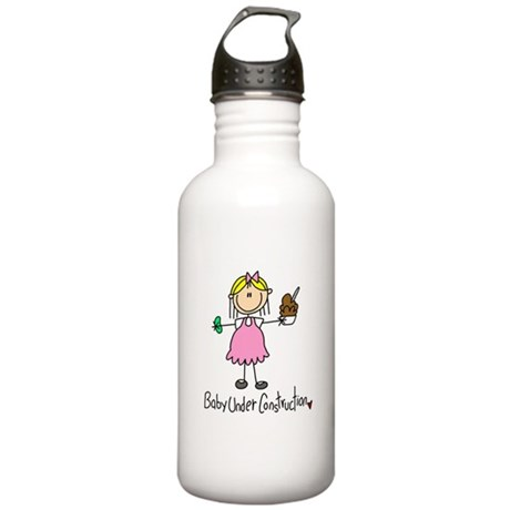 Baby Under Construction Stainless Water Bottle 1.0