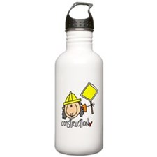 Female Construction Worker Water Bottle