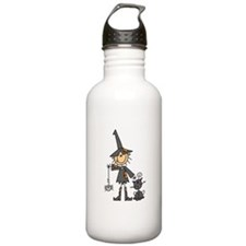 Witch and Cat Water Bottle