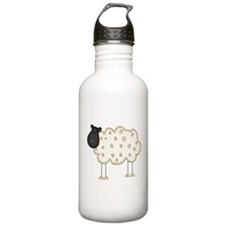 Stick Figure Sheep Sports Water Bottle