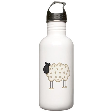 Stick Figure Sheep Stainless Water Bottle 1.0L