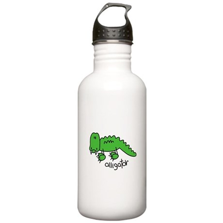 Stick Figure Alligator Stainless Water Bottle 1.0L