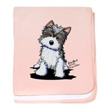 Biewer Yorkie Puppy baby blanket