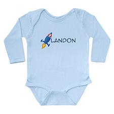 Landon Rocket Ship Long Sleeve Infant Bodysuit