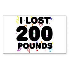 I Lost 200 Pounds! Decal