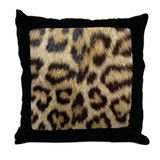 Leopard Print Throw Pillow