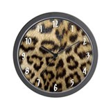 Leopard Print Wall Clock