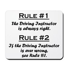 Driving Instructor Mousepad