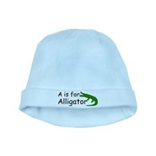 A is for Alligator baby hat