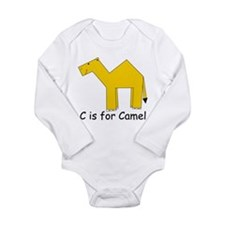 C is for Camel Long Sleeve Infant Bodysuit