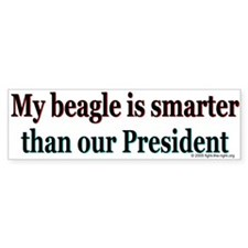 Beagle Anti-Bush Bumper Bumper Sticker
