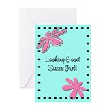 Sassy Girl Greeting Card