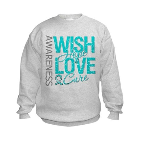 PCOS Wish Hope Cure Kids Sweatshirt