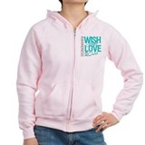 PCOS Wish Hope Cure Zip Hoodie