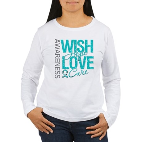 PCOS Wish Hope Cure Women's Long Sleeve T-Shirt