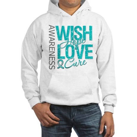 PCOS Wish Hope Cure Hooded Sweatshirt