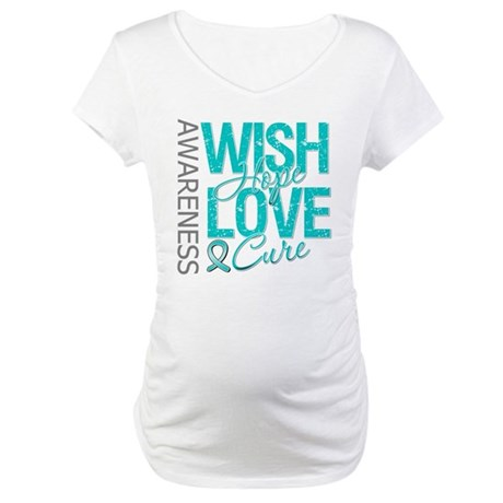 PCOS Wish Hope Cure Maternity T-Shirt