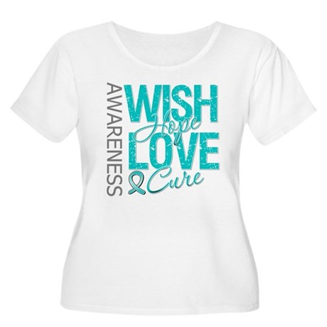 PCOS Wish Hope Cure Women's Plus Size Scoop Neck T