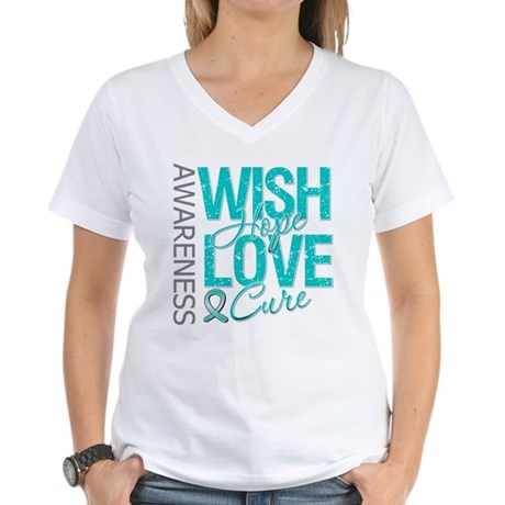 PCOS Wish Hope Cure Women's V-Neck T-Shirt
