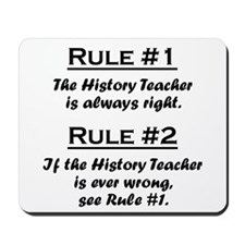 History Teacher Mousepad
