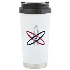 Atheist Symbol RWB Ceramic Travel Mug