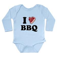 I [heart] BBQ Long Sleeve Infant Bodysuit