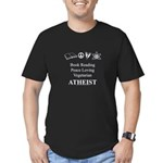 Book Peace Vegetarian Atheist Men's Fitted T-Shirt