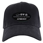 Book Peace Vegetarian Atheist Black Cap